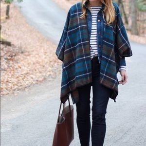 Old navy plaid cape poncho